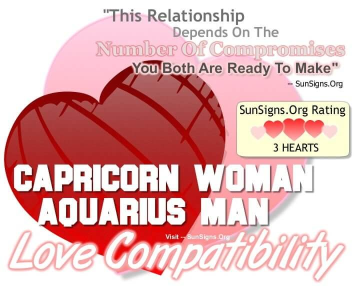 capricorn woman aquarius man